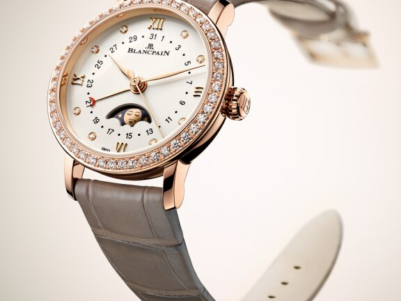 Blancpain Villeret 6106 Moon - Brown strap