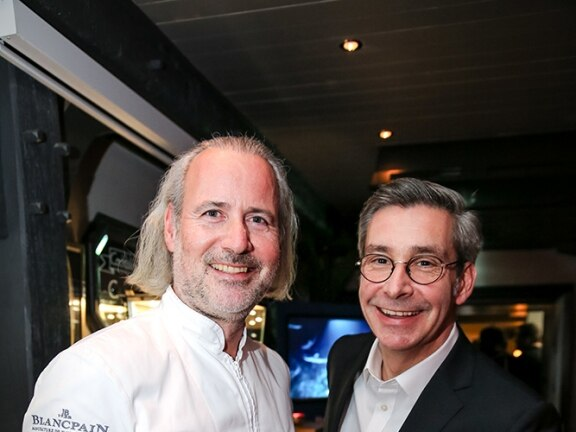 Blancpain and the Gourmet Festival of Sylt – Holger Bodendorf and wolfgang Brand manager Blancpain